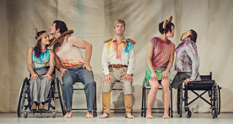 All five dancers in Artificial Things together