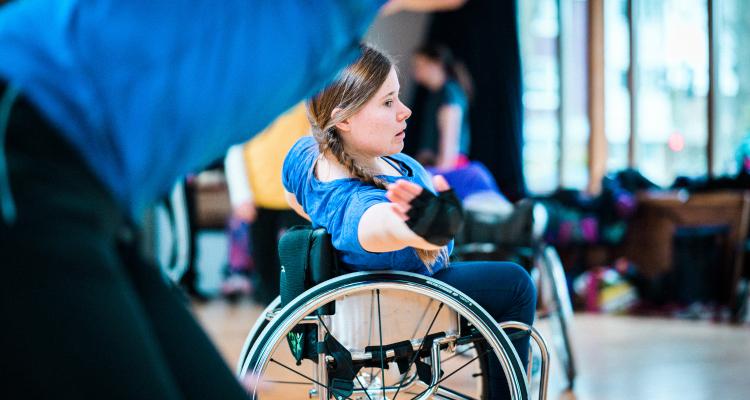A wheelchair dancer
