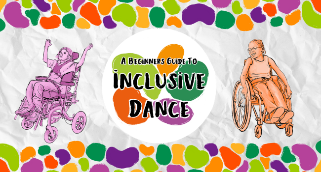 A logo for A Beginner's Guide to Inclusive Dance